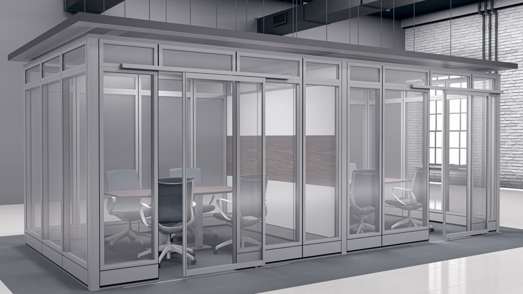 Skutchi Designs |  Sapphire Wall Systems | Conference Room Rendering