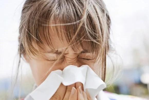 Woman sneezing allergy season, Skutchi Designs